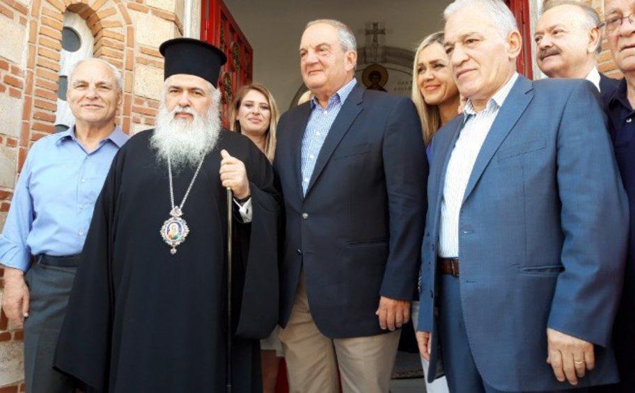 Προεκλογικές περιοδείες στη Θεσσαλονίκη ξεκίνησε ο Κώστας Καραμανλής
