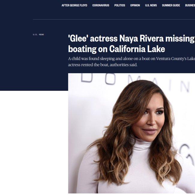 Νάγια Ριβέρα: Αγνοείται η γνωστή ηθοποιός - Ο 4χρονος γιος της βρέθηκε μόνος του στο σκάφος