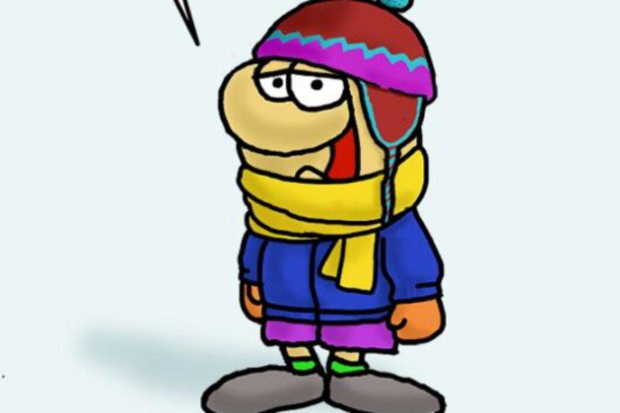 Το σκίτσο του Αρκά για την κακοκαιρία: Κρύο… πολύ κρύο